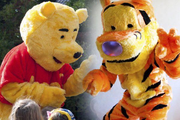 Maskotki tygrysek i puchatek - organizacja imprez