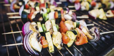 Szaszłyk grillowany wegetariański - usługa cateringowa - organizacja imprez